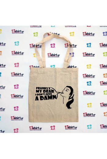 """""""Frankly My Dear"""" Cotton Bag"""